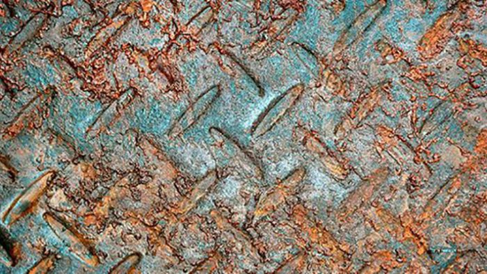 A piece of steel rusting — a natural oxidation process in the presence of moisture. PFAS compounds, however, strongly resist such natural chemical changes and breakdowns. Photo: U.S. EPA